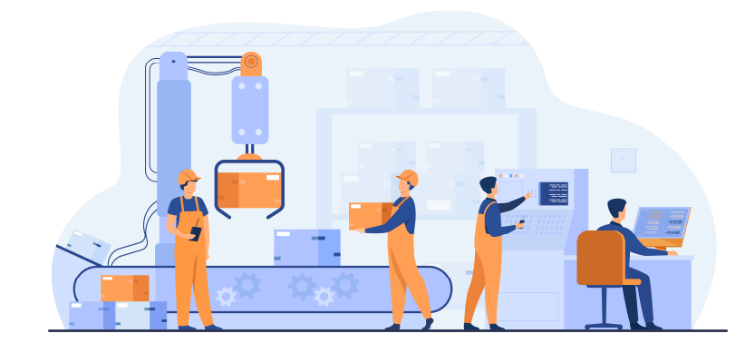 illustration usine gestion de maintenance